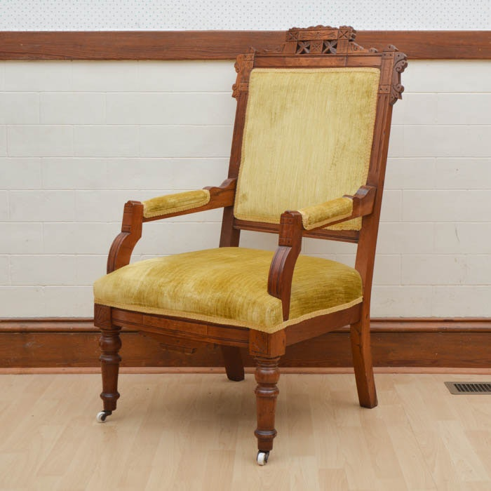Oak Eastlake Captain's Chair