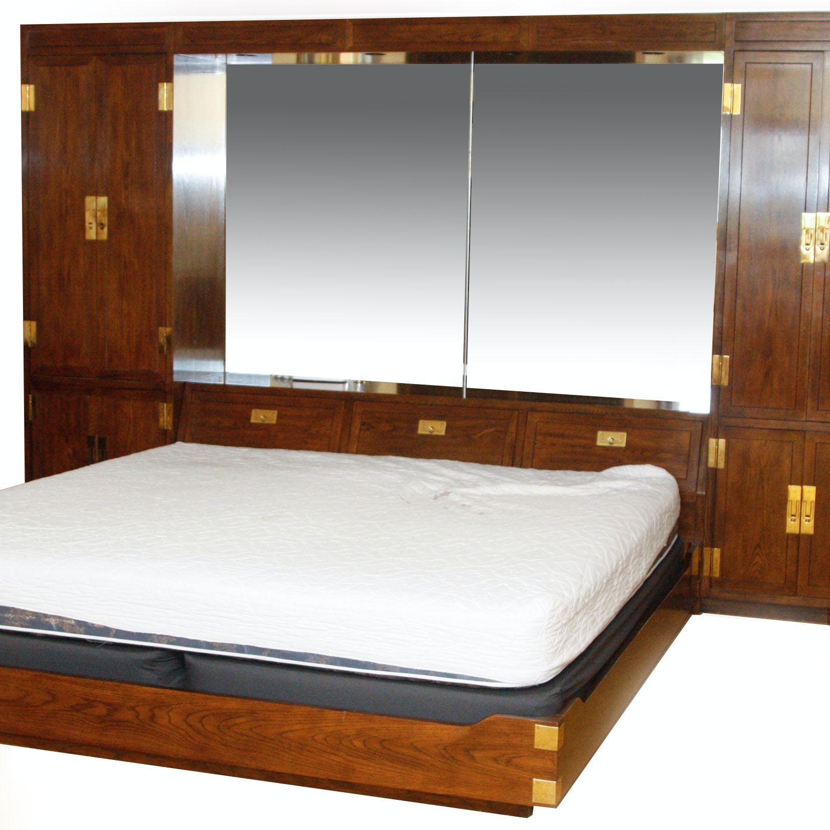 henredon bedroom set henredon one campaign king bed and storage ebth 11782