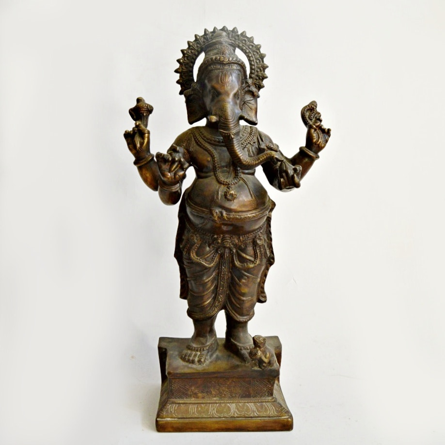 Early 20th Century Bronze Indian Ganesha Sculpture