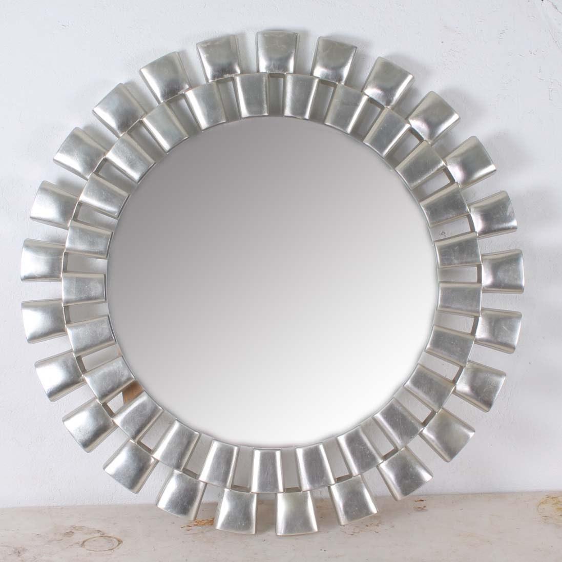 Modern Sliver Tone Starburst Mirror