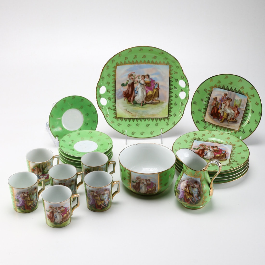 Collection of Austrian Victoria Style Green China