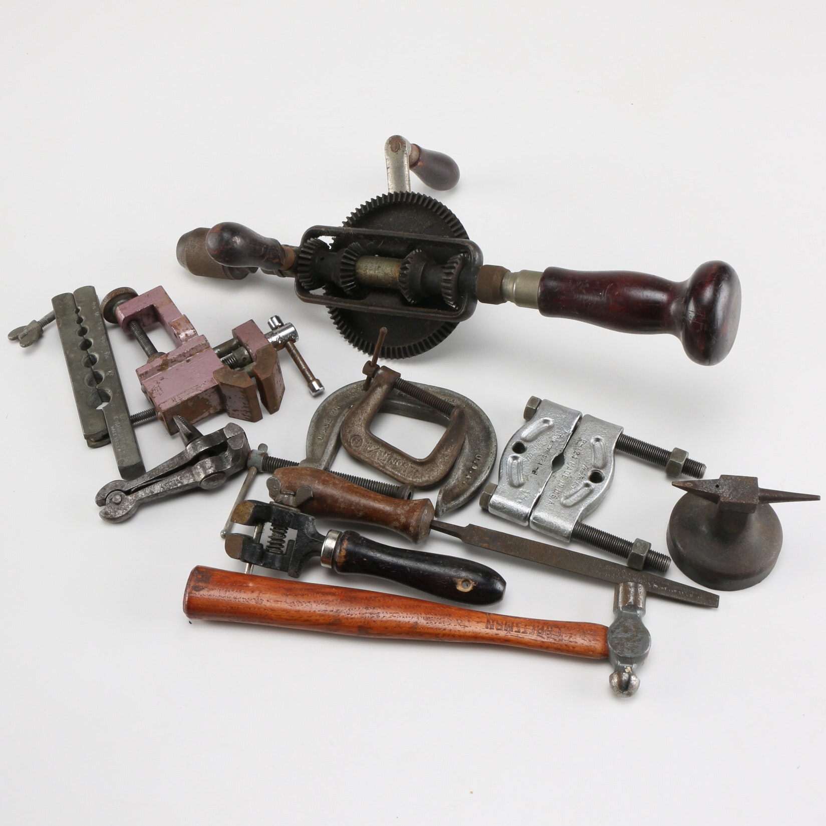 Collection of Hand Tools and Clamps