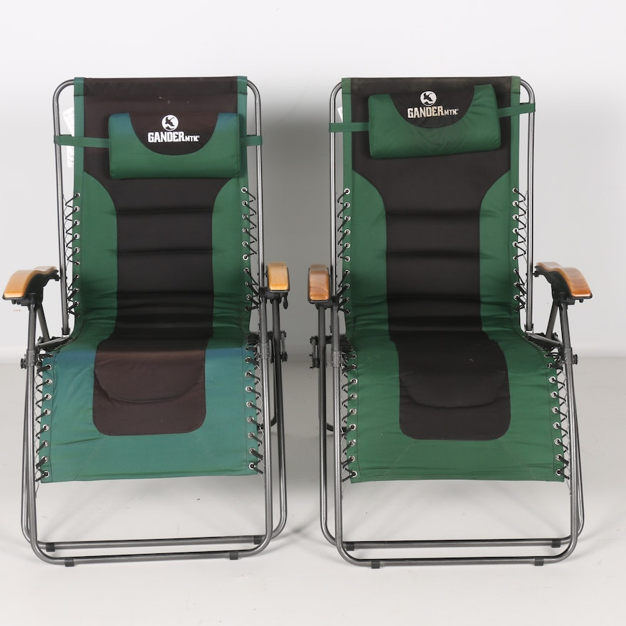 Brilliant Pair Of Gander Mountain Zero Gravity Padded Loungers Pabps2019 Chair Design Images Pabps2019Com