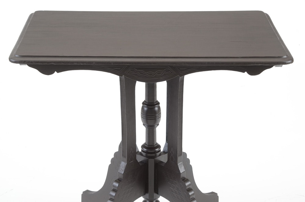 Late victorian black painted table ebth for Nfpa 72 99 table 7 3 1