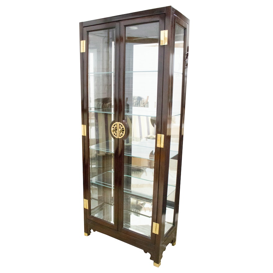 Asian Style Curio Cabinet By American Of Martinsville Ebth