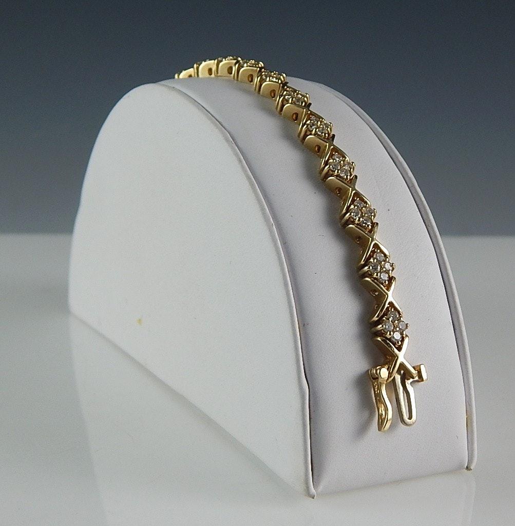14K Yellow Gold and 2.16 CTW Diamond Tennis Bracelet