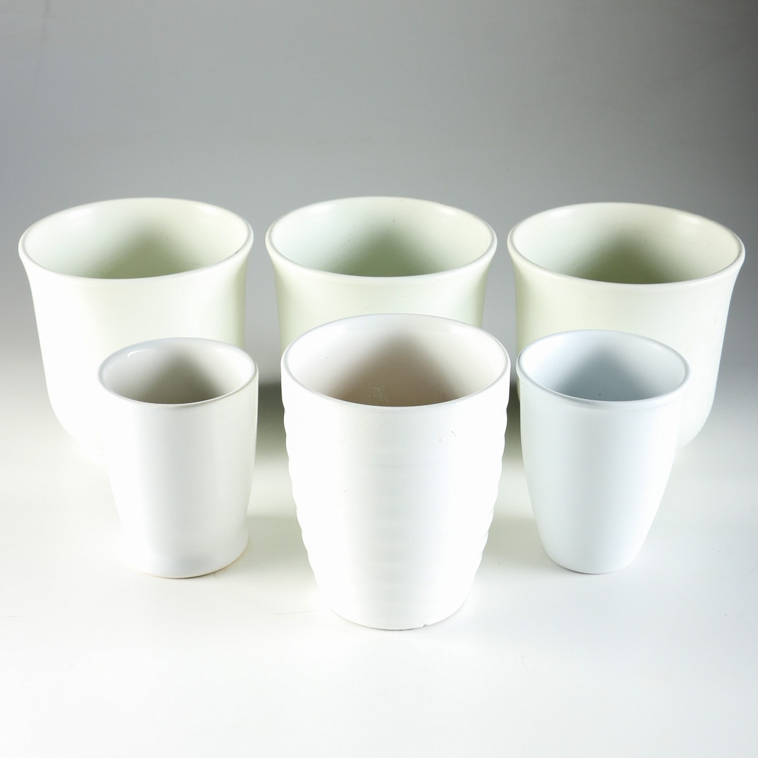 Collection of White Modern Planters
