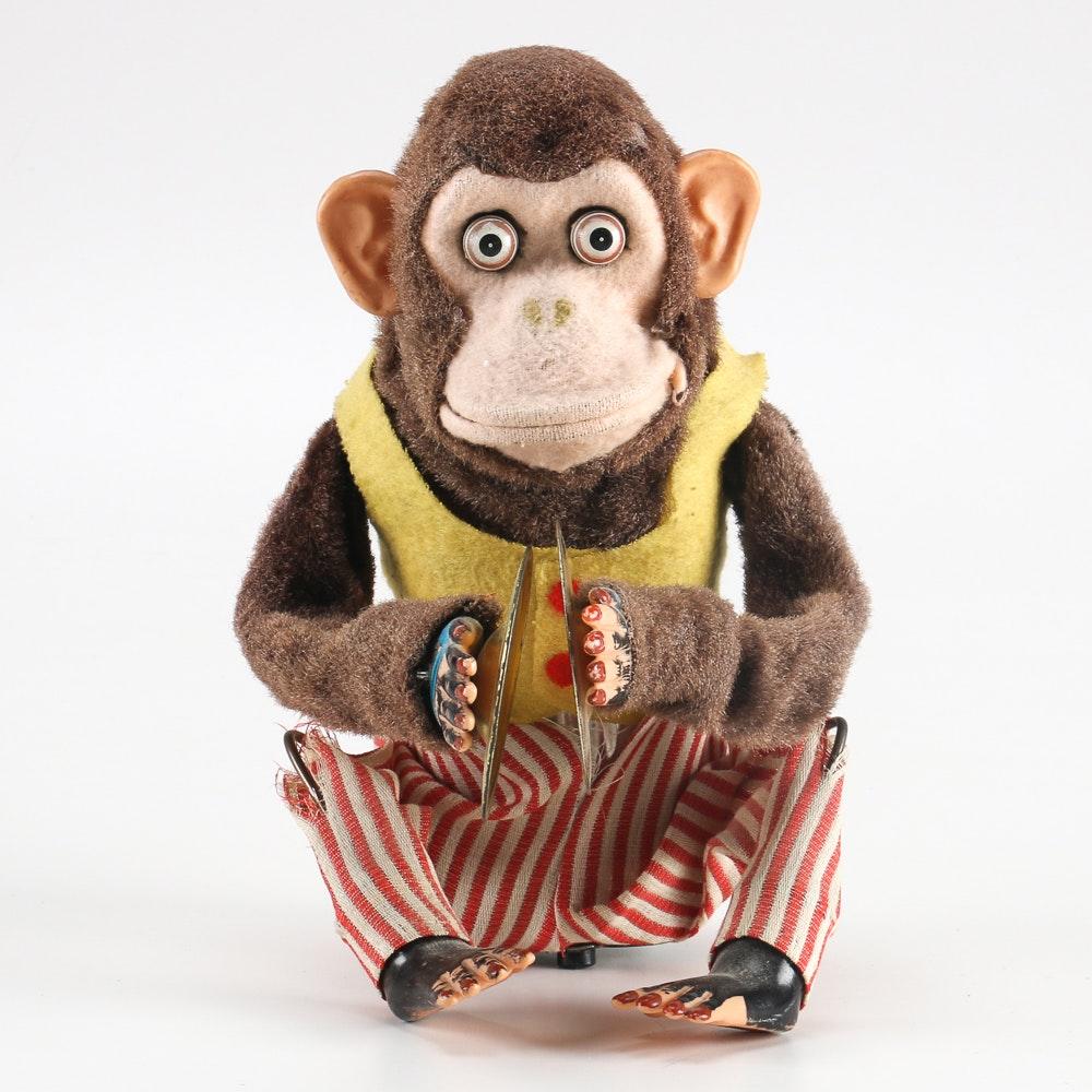 "Mid-Century Daishin ""Musical Jolly Chimp"" Toy"