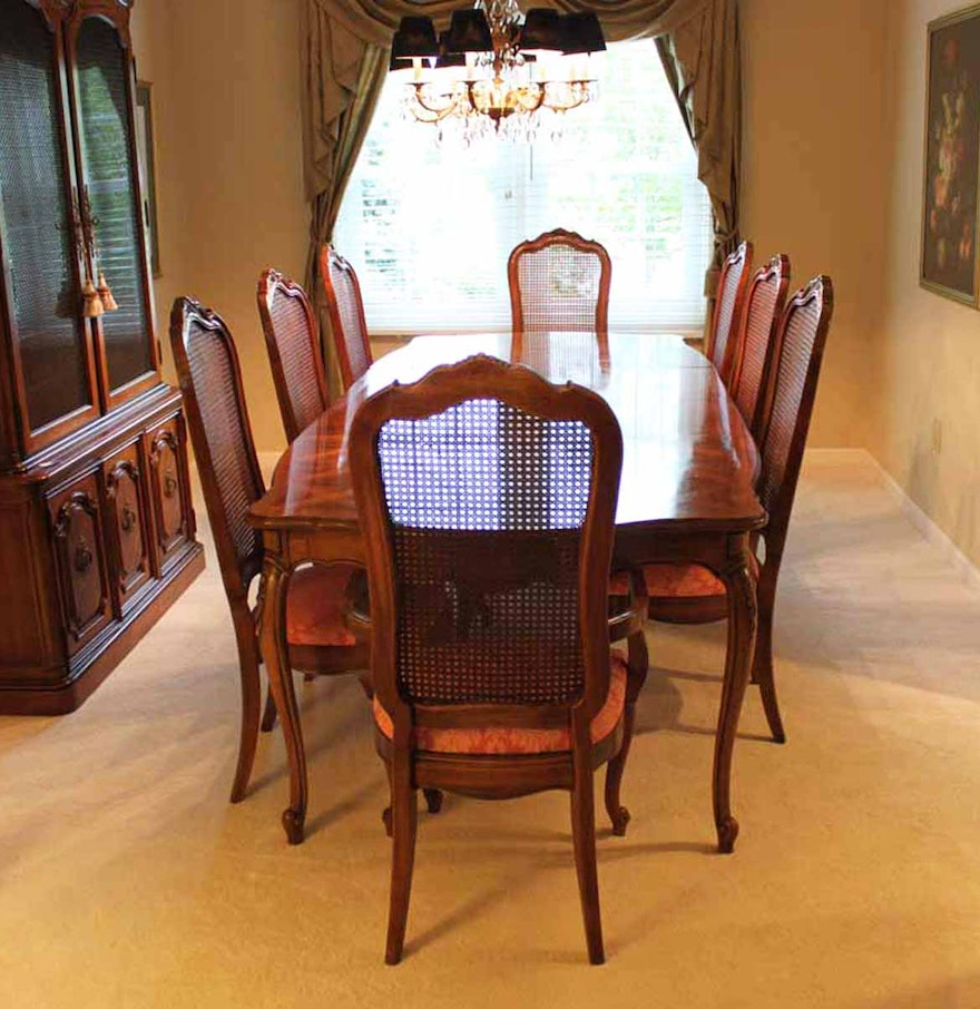 Thomasville Dining Room Furniture: Thomasville Dining Room Set With Cane Back Chairs : EBTH