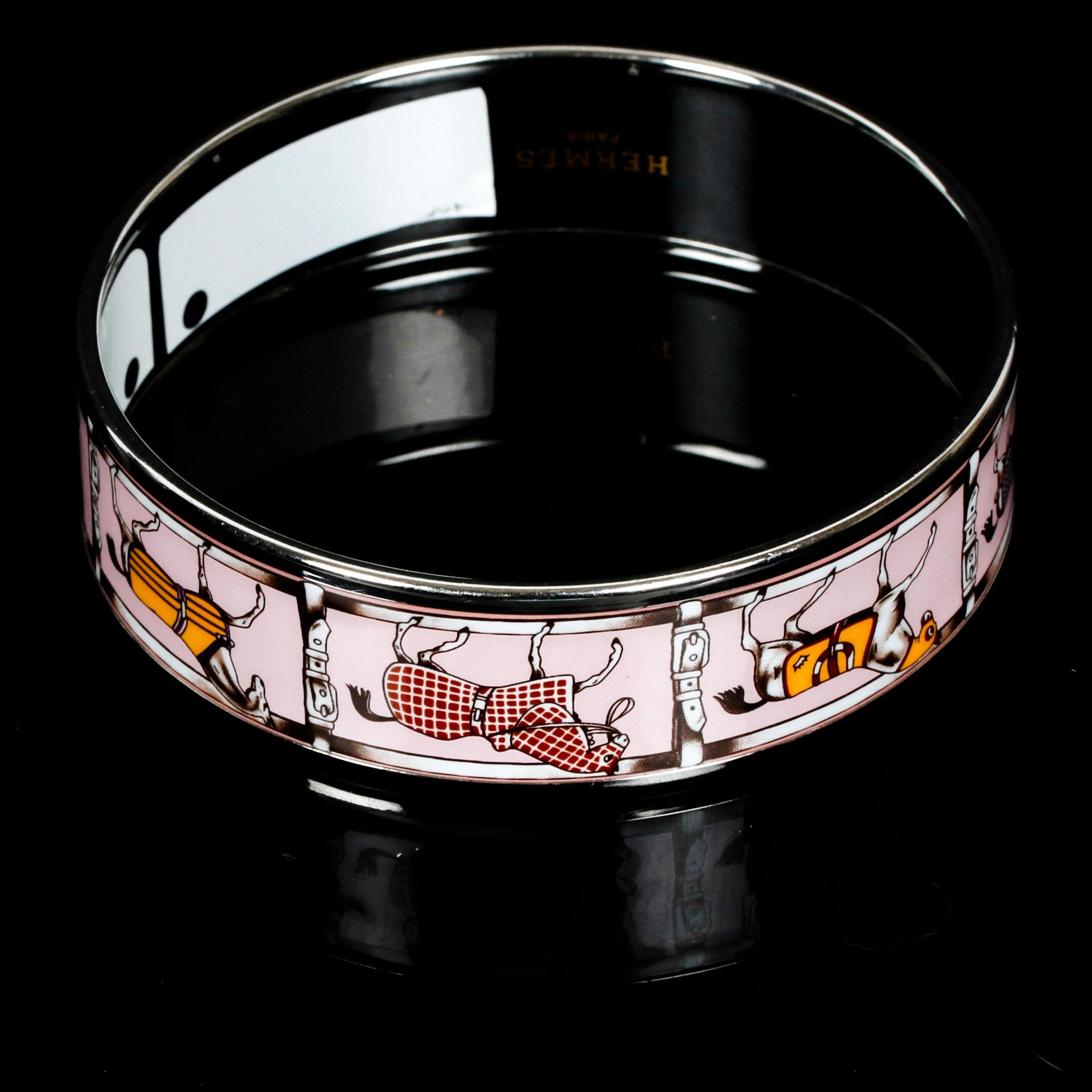Hermès Enamel Bangle Bracelet