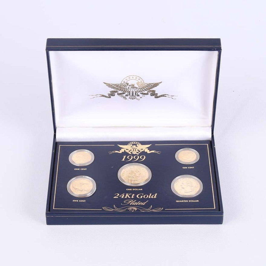 1999 24K Gold Plated Coins