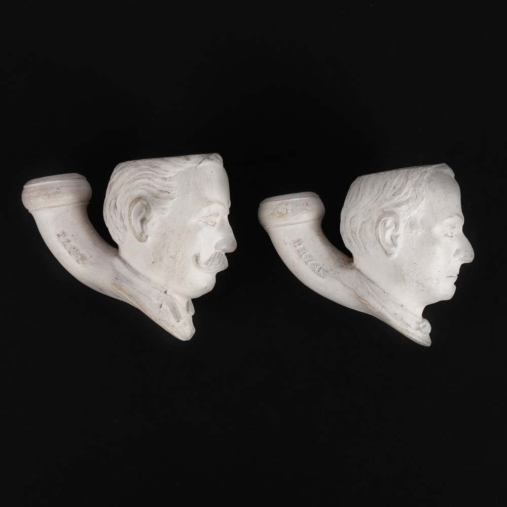 Taft and Bryan Portrait Head Pipe Bowls