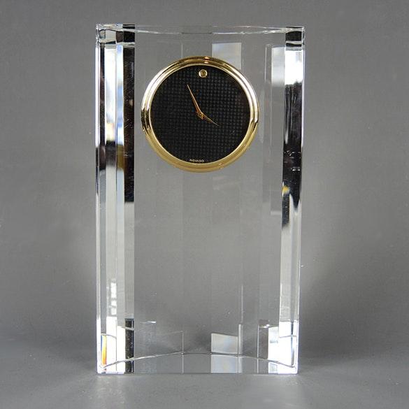 movado crystal quartz desk clock ebth rh ebth com movado rotating desk clock movado desk clock battery