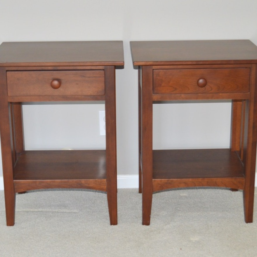 Two Ethan Allen Mission Style Nightstands