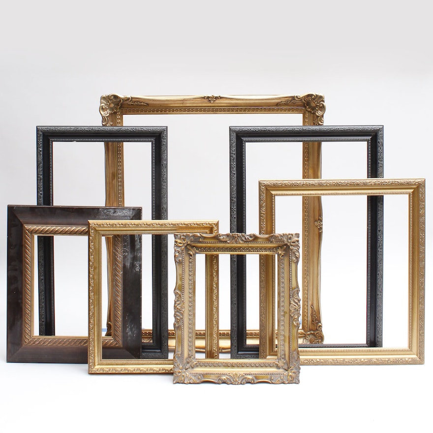 9f936e59eb8b Assortment of Large Vintage Picture Frames   EBTH