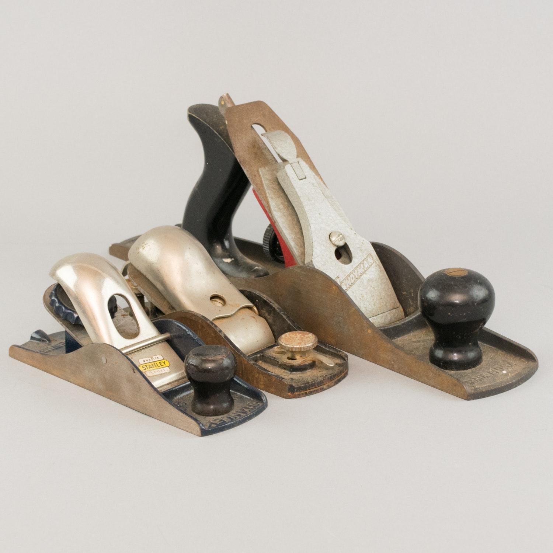 Three Vintage Wood Planers