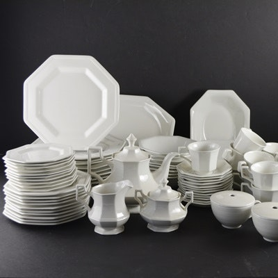 Ironstone \ Heritage White\  Dinnerware Set ... & Johnson Bros. Ironstone \