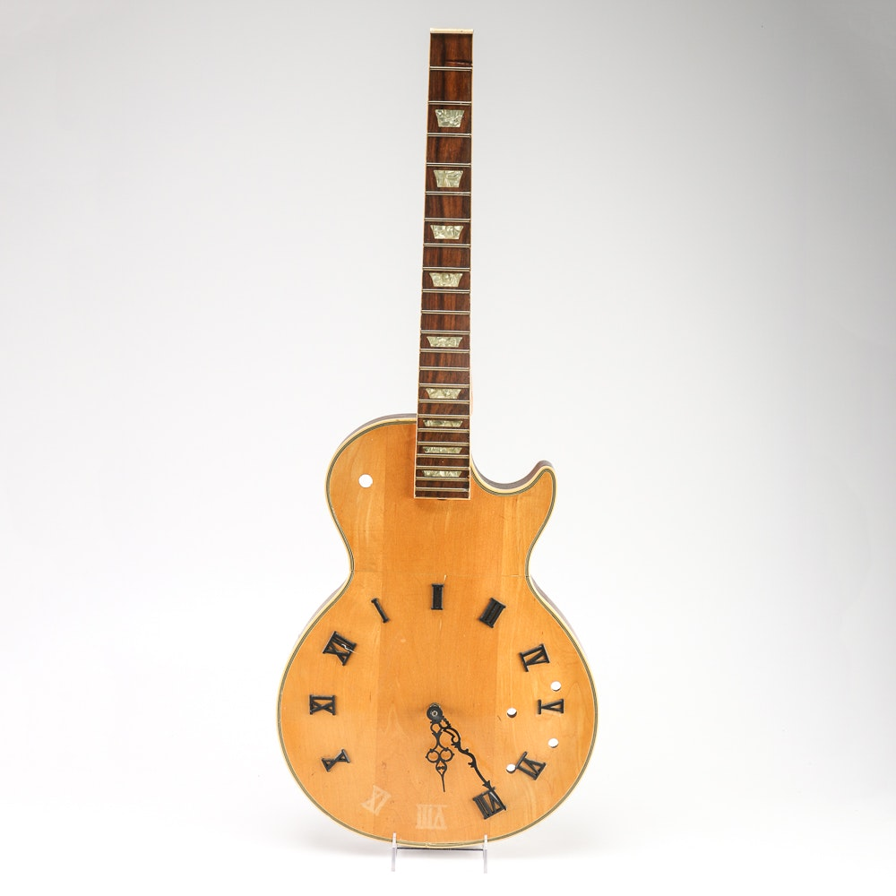 """""""Two Hours Early"""" Electric Guitar Clock"""