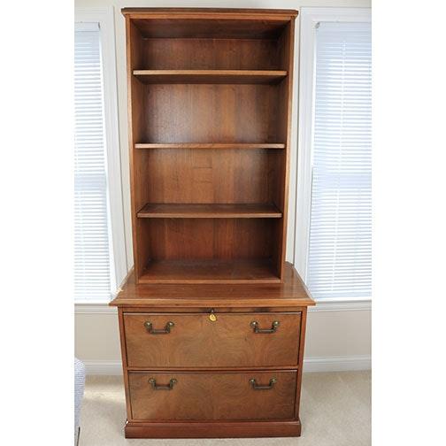 Kimball Furniture Red Oak Filing Cabinet And Bookshelf ...