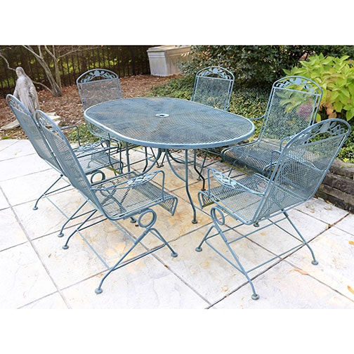 wrought iron patio table and chairs ebth
