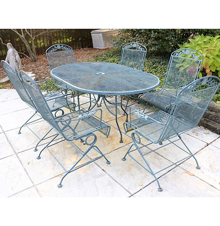 4496229 Wrought Iron Patio Table And Chairs on Wrought Iron Oval Patio Table