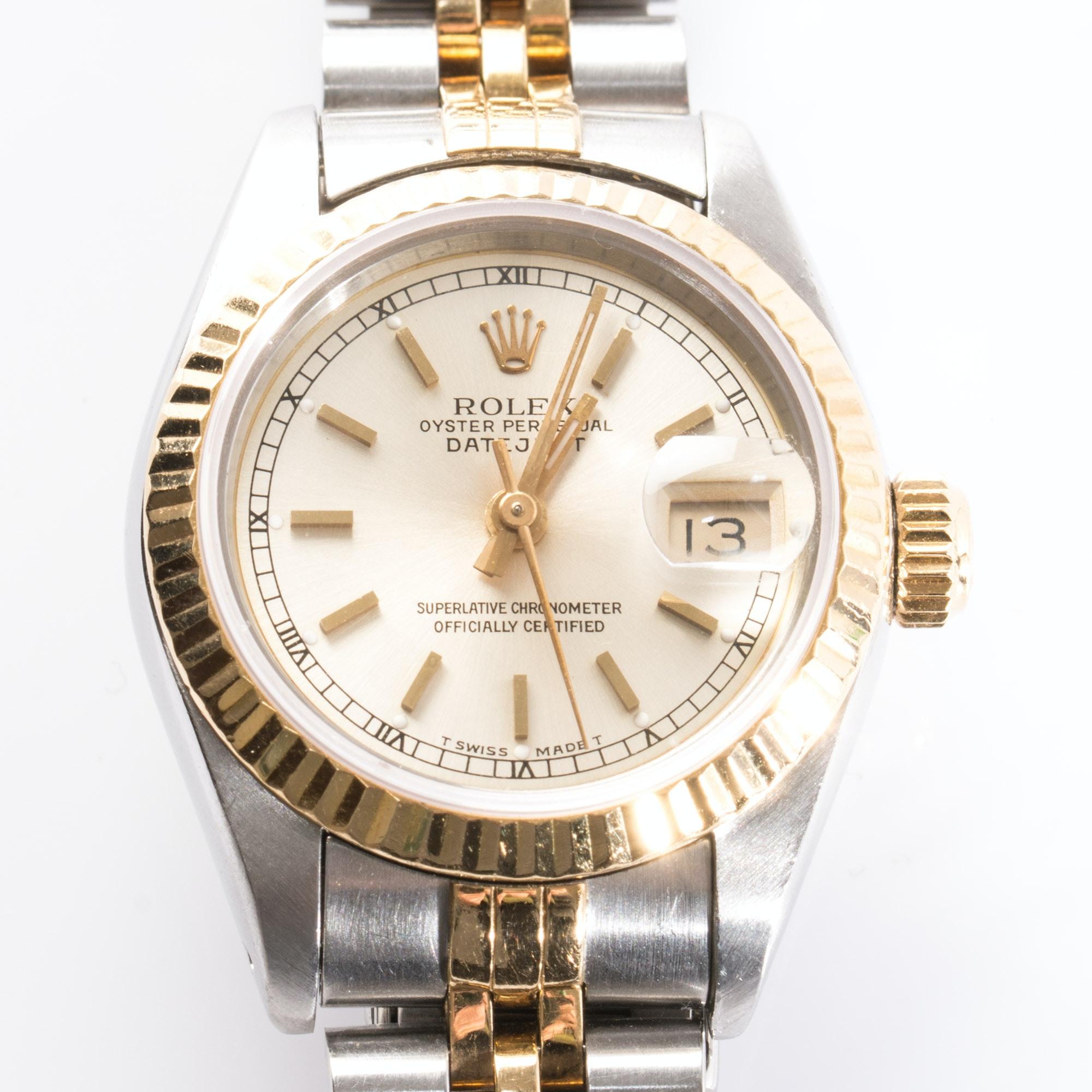 Women's 18K Rolex Oyster Perpetual Datejust Wristwatch