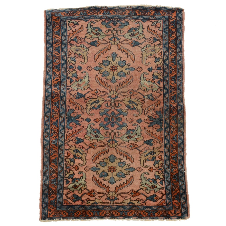 Persian Style Wool Area Rug Ebth: Semi-Antique Persian Accent Rug