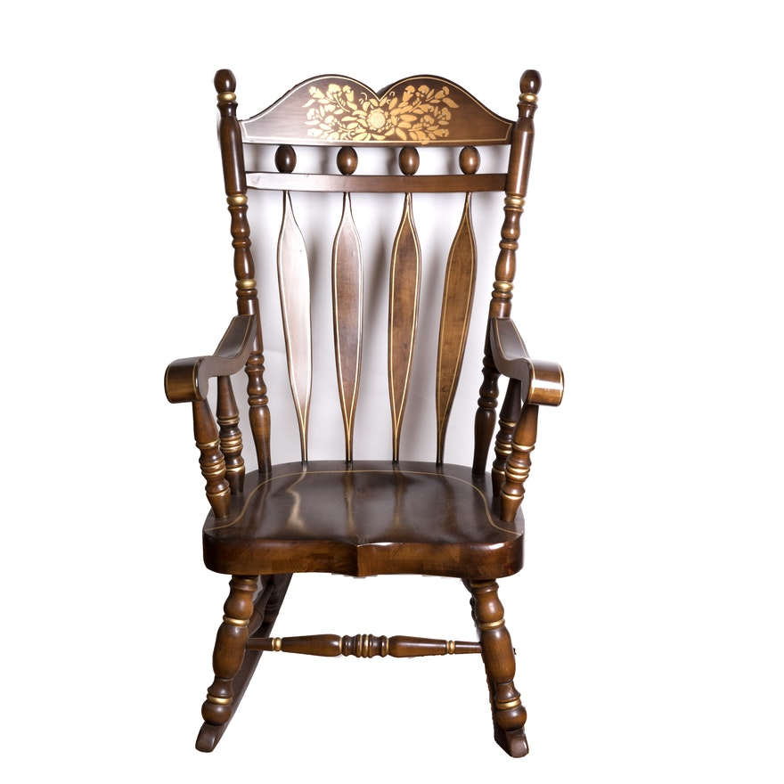 Strange Rocking Chair With Gold Painted Accents Gmtry Best Dining Table And Chair Ideas Images Gmtryco