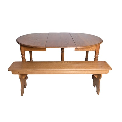 Heywood wakefield round maple dining table ebth for Maple dining room table