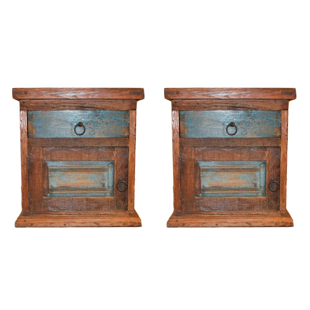 Hand Crafted Repurposed Wood Nightstands