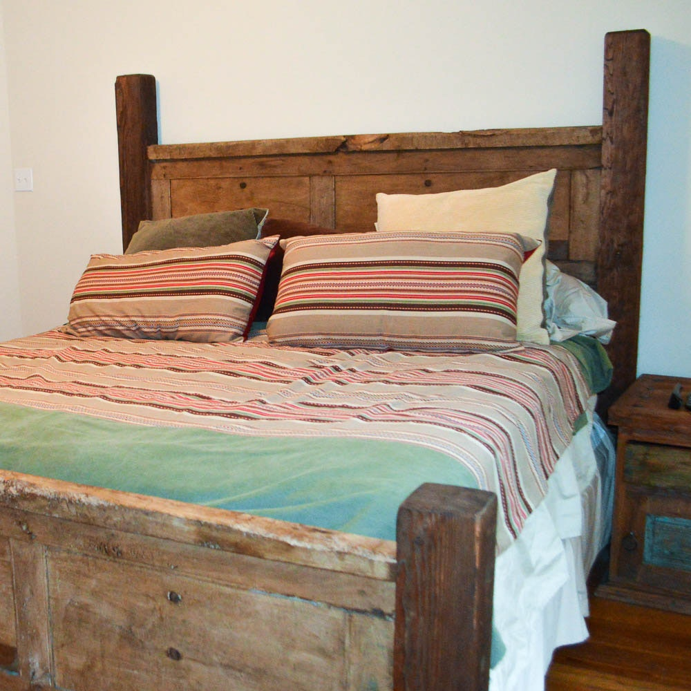 Hand Crafted Rustic King Size Bed