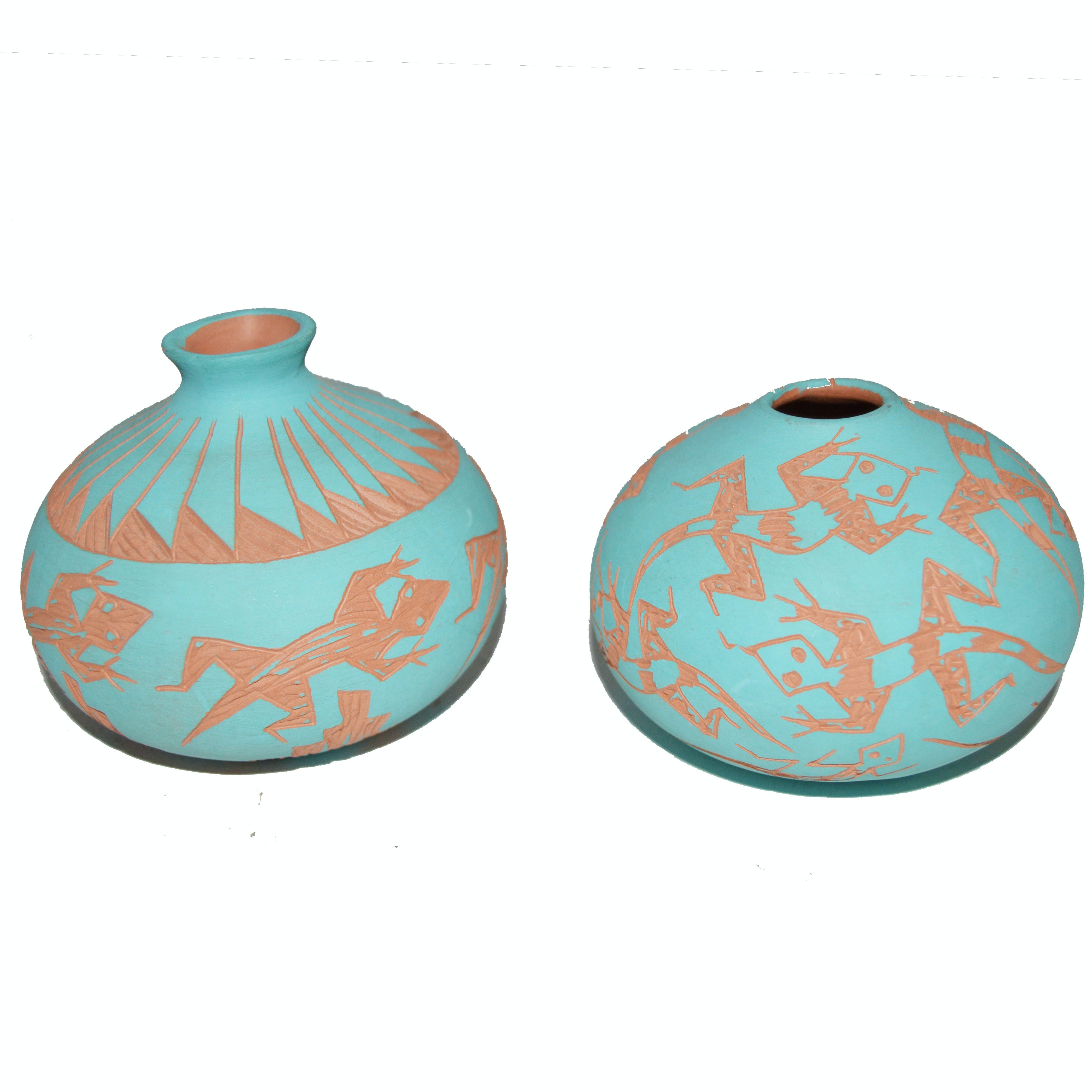Pair of Terracotta Pottery Pieces