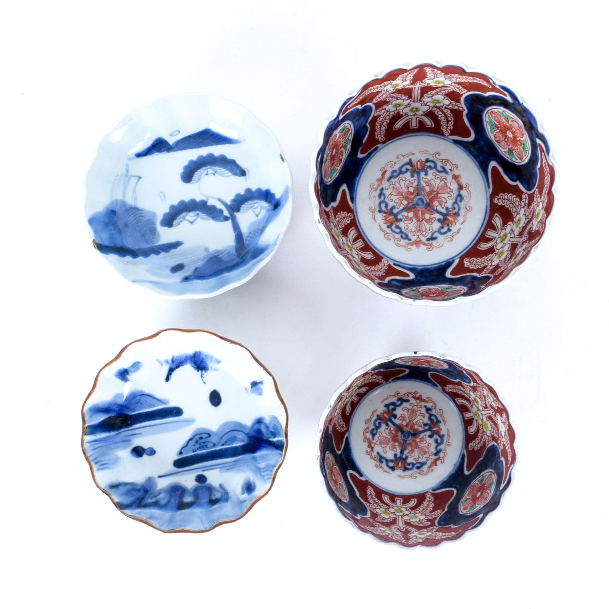 Collection of Vintage Japanese Imari Bowls