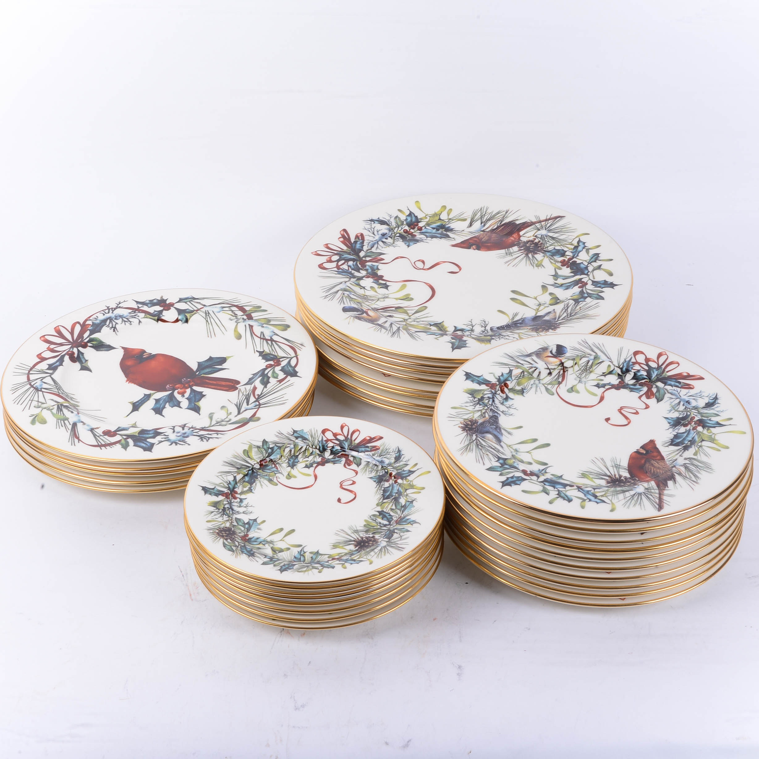 Lenox  Winter Greetings  Plates by Catherine McClung ... & Lenox