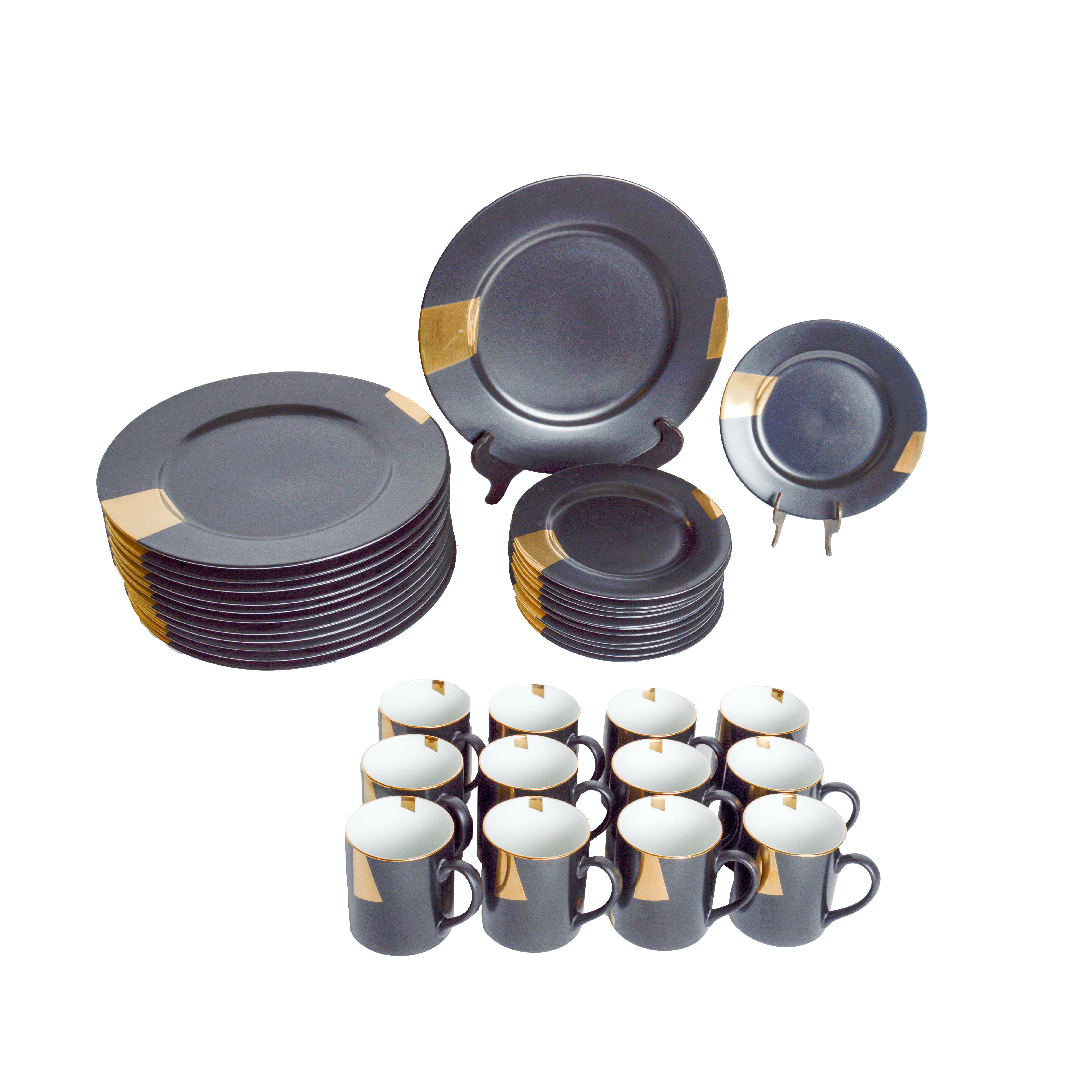 Taitu San Marco Gold Geometric Dinnerware Set ...  sc 1 st  EBTH.com & Taitu San Marco Gold Geometric Dinnerware Set : EBTH