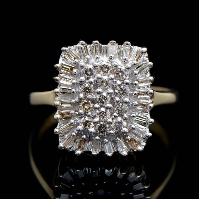 0.75 CTW Diamond and 10K Yellow Gold Ring