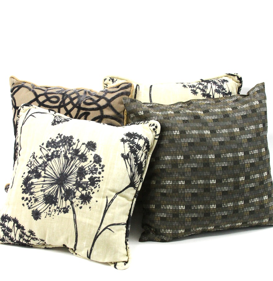 Set of Four Decorative Pillows : EBTH