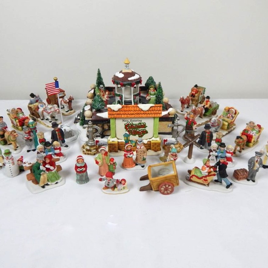 Lefton Colonial Village Figurines And Accessories