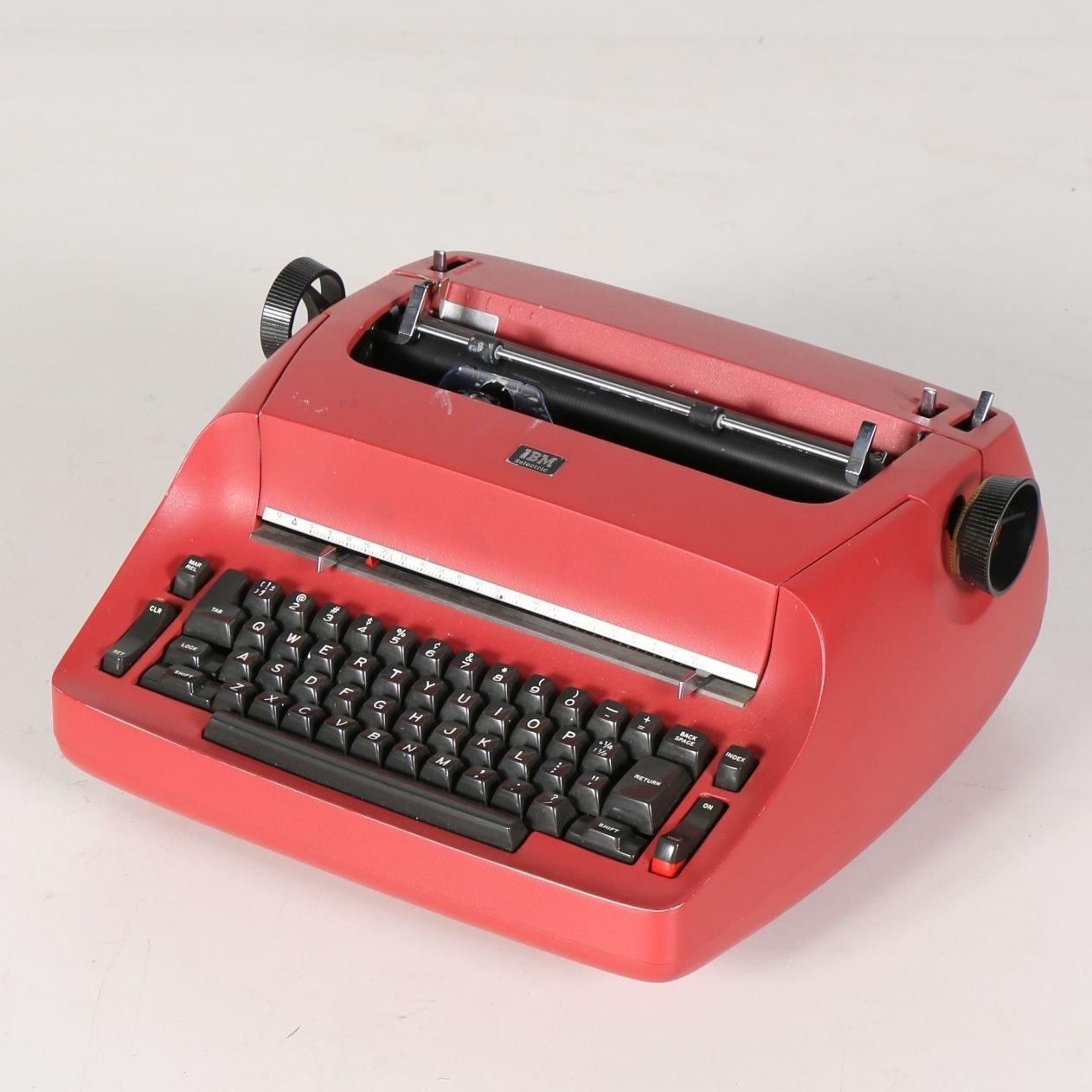 IBM Selectric Red Typewriter