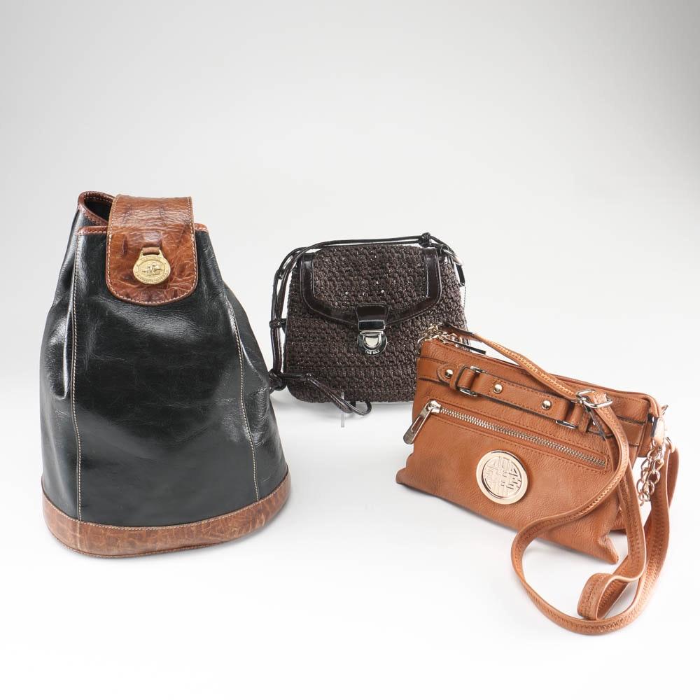 Handbags by Brahmin, Saks, and Dasein