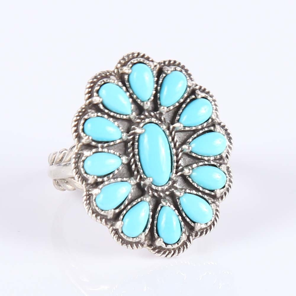 Sterling Silver Squash Blossom Ring