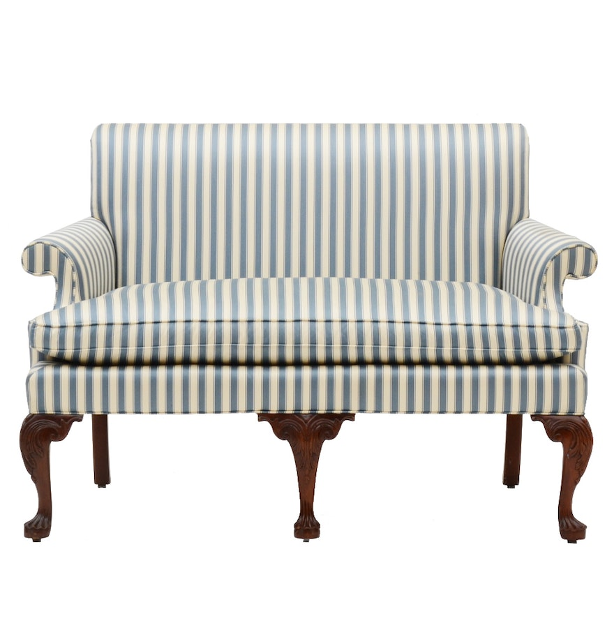 Blue and white striped sofa 28 images blue and white for Blue and white sofa