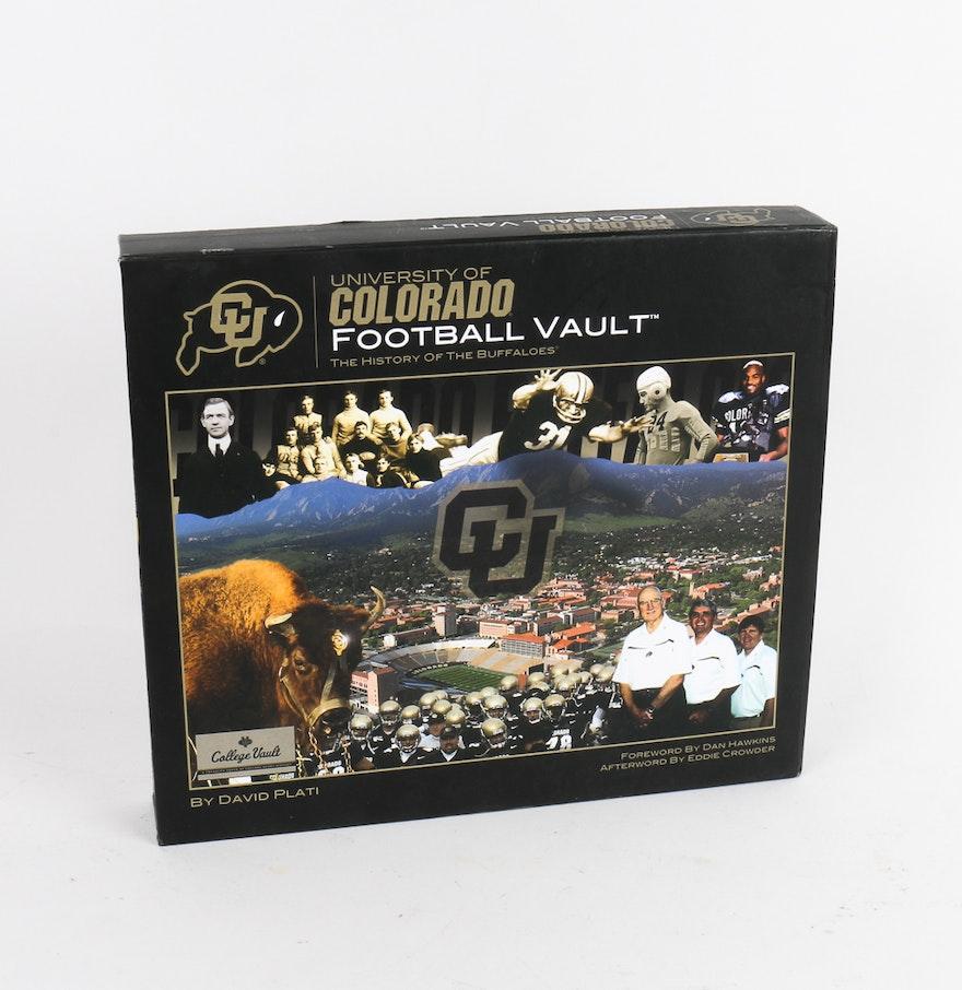 University of colorado football vault coffee table book ebth university of colorado football vault coffee table geotapseo Gallery