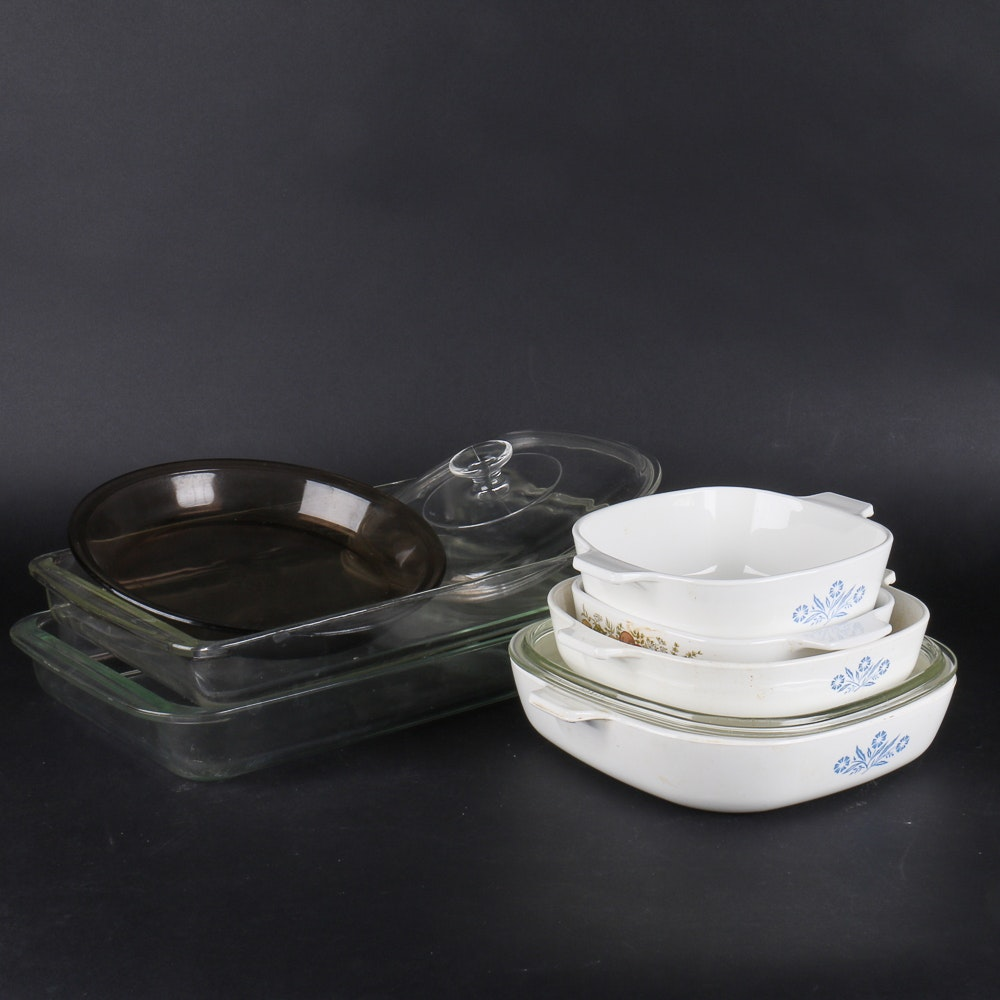 Collection of Vintage Pyrex and Corning Ware