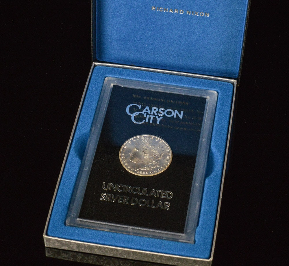 Uncirculated 1884-CC Morgan Silver Dollar