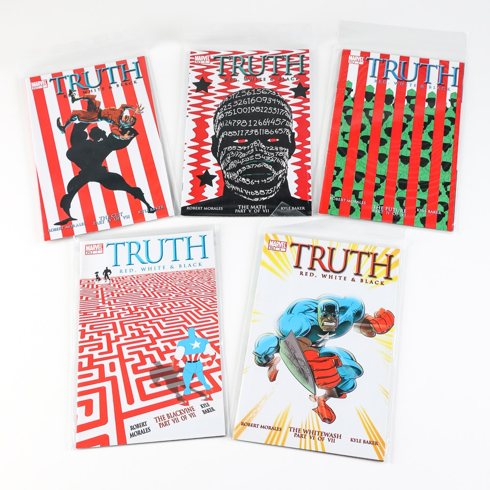 """Marvel """"Truth: Red, White and Black"""" No. 2, 4-7"""