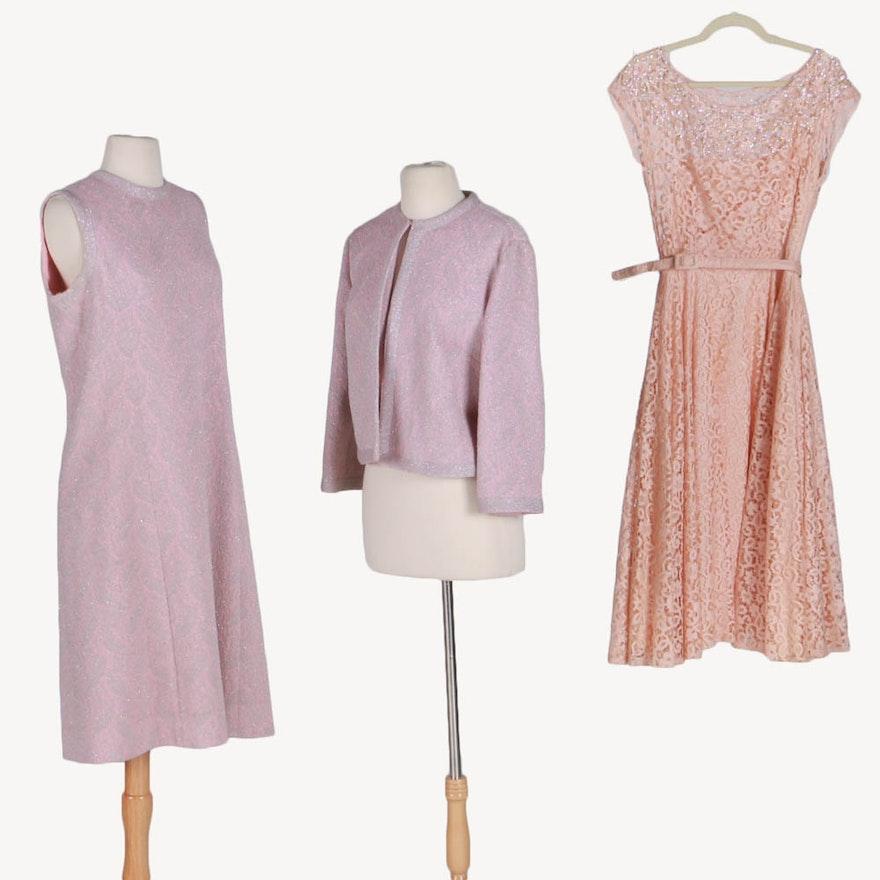 5df7e084793 Vintage Pink Dresses Including Leslie Fay Original Two Piece Set   EBTH