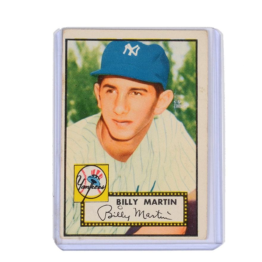 1952 Topps Billy Martin Baseball Card