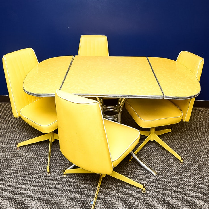 Vintage Acme Chrome Corp. Table and Chairs