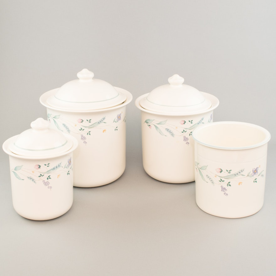 "Pfaltzgraff ""April"" Stoneware Canister Set : EBTH"
